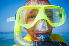 Photo of snorkeling boy Stock Photography