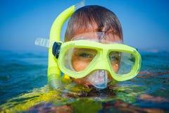 Photo of snorkeling boy Royalty Free Stock Photography