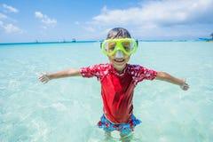 Photo of snorkeling boy Royalty Free Stock Photo