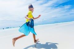 Photo of snorkeling boy Royalty Free Stock Image
