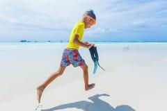 Photo of snorkeling boy Royalty Free Stock Photos