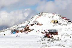 Photo of Snow-covered mountains in Bulgaria. Snow-covered mountains in Bulgaria, Mount Musala, Rila mountain range. Ski resort Borovets royalty free stock photos