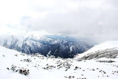 Photo of Snow-covered mountains in Bulgaria. Snow-covered mountains in Bulgaria, Mount Musala, Rila mountain range. Ski resort Borovets Stock Photos