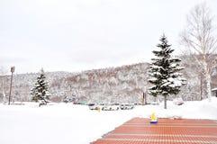 Snow forest with mountains in Sapporo, Hokkaido Japan January 2,. Photo of Snow forest with mountains in Sapporo, Hokkaido Japan January 2, 2018 stock photos