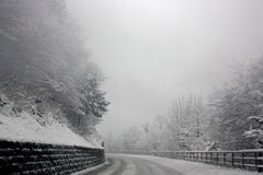 Photo of Snowy Road Stock Photos