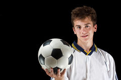 Photo of a soccer player Royalty Free Stock Photography