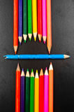 Photo of some pencils representing a mouth Royalty Free Stock Photo