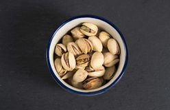 Photo of some pistachios. A photo of some pistachios stock image