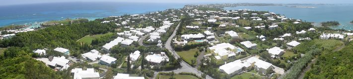 Panoramic view of southern Bermuda royalty free stock photography