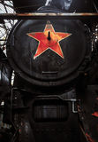 Photo of a soviet symbol on a train Royalty Free Stock Photo