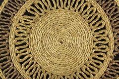 Spiral craftwork with bamboo fibers close up texture. Photo of Spiral craftwork with bamboo fibers close up texture Royalty Free Stock Image