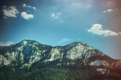 Photo of splendid view of beautiful mountain on the wonderful sk Royalty Free Stock Image