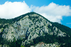 Photo of splendid view of beautiful mountain on the wonderful sk Stock Photography