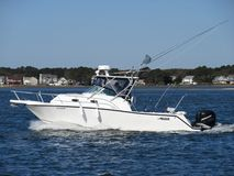 Sport Fishing Boat in the Bay in Ocean City Maryland stock image