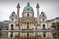 Photo of St. Charles Cathedral in Vienna, Austria Stock Photo