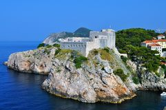 The fortress on the top of the rock - St. Lawrence Fortress stock photography