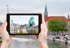 Photo of Statue of Absalon in Copenhagen, Denmark Royalty Free Stock Images