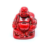 Photo of statuette of buddha isolated on white background Royalty Free Stock Photography