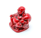 Photo of statuette of buddha isolated on white background. Photo of statuette of red buddha isolated on white background stock photography