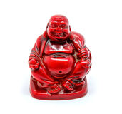 Photo of statuette of buddha isolated on white background. Photo of statuette of red buddha isolated on white background royalty free stock images