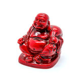 Photo of statuette of buddha isolated on white background. Photo of statuette of red buddha isolated on white background royalty free stock photography