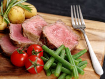 Sliced steak dinner Royalty Free Stock Photo