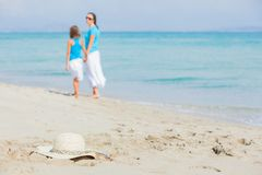 Photo of straw beach hat Stock Images