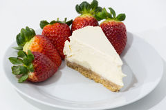 photo of strawberry and cheese cake Royalty Free Stock Photos