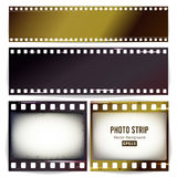 Photo Strip Vector. Realistic Empty Frame Strip Blank. Grunge Scratched Template Isolated On Transparent Background. Royalty Free Stock Photography