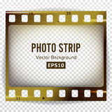 Photo Strip Vector. Realistic Empty Frame Strip Blank. Grunge Scratched Template Isolated On White Background. Photo Strip Vector. Realistic Empty Frame Strip Royalty Free Stock Photo
