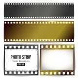 Photo Strip Vector. Realistic Empty Frame Strip Blank. Grunge Scratched Template Isolated On White Background. Photo Strip Vector. Realistic Empty Frame Strip Royalty Free Stock Photography