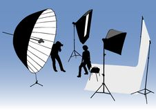 Photo studio Stock Photography