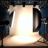 A photo studio background template. A 3d illustration of a photo studio background template Stock Photography