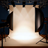 A photo studio background template. Stock Images