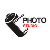 Photo studio camera film vector icon Royalty Free Stock Photos