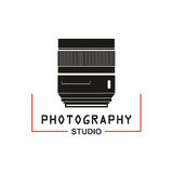 Photo studio camera lens vector icon Stock Photos