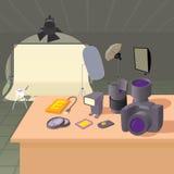 Photo studio concept, cartoon style Stock Images