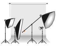 Photo studio equipment Stock Photo