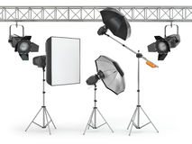 Photo studio equipment Stock Images