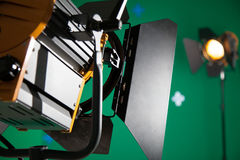 Photo Studio for the filming of chroma key. Interior Royalty Free Stock Image