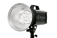 Photo studio flash lighting equipment Stock Photo