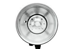 Photo studio flash lighting equipment. Isolated on white background stock image