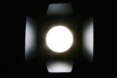 Photo studio flash lighting equipment. On dark background royalty free stock photo