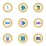 Photo studio icons set, cartoon style. Photo studio icons set. Cartoon style set of 9 photo studio vector icons for web design Royalty Free Stock Photos