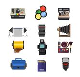 Photo studio icons vector set. Royalty Free Stock Photography