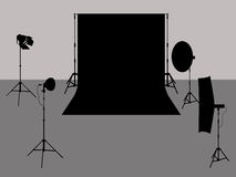 Photo studio illustration Royalty Free Stock Photos