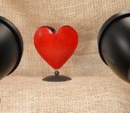 Photo studio. Lighting, tabletop heart royalty free stock photography