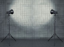 Studio in modern interior Royalty Free Stock Photography