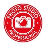 photo studio professional emblem design graphic Stock Images