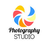 Photo studio or professional photographer logo template. Design. Vector Illustration Stock Image